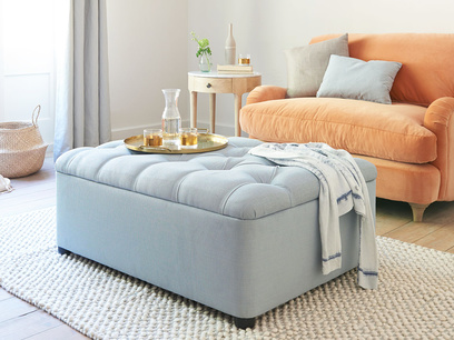 Bed in a Button buttoned footsool sofa bed