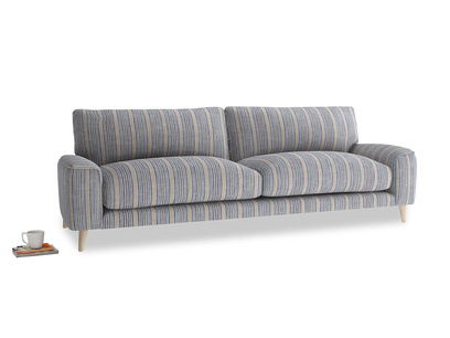 Large Strudel Sofa in Brittany Blue french stripe