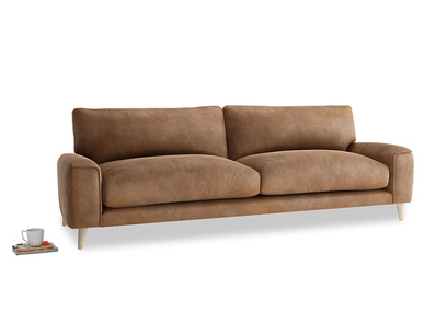 Large Strudel Sofa in Walnut beaten leather