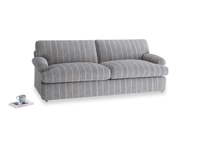 Large Slowcoach Sofa Bed in Brittany Blue french stripe