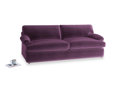 Large Slowcoach Sofa Bed in Grape clever velvet