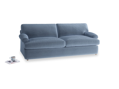 Large Slowcoach Sofa Bed in Winter Sky clever velvet