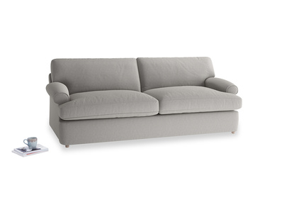 Large Slowcoach Sofa Bed in Wolf brushed cotton