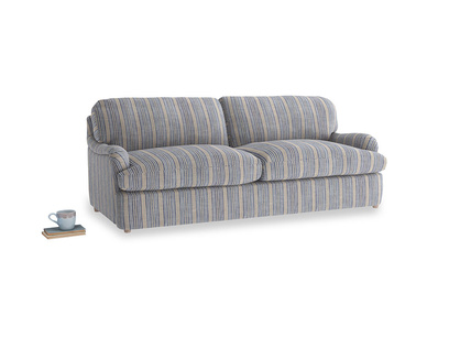 Large Jonesy Sofa Bed in Brittany Blue french stripe