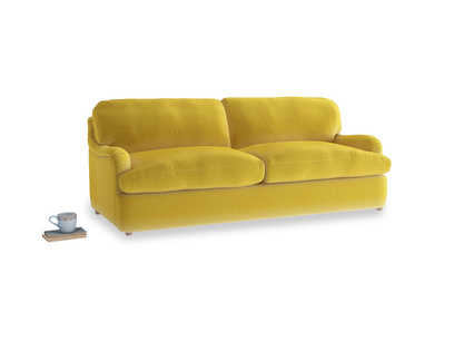Large Jonesy Sofa Bed in Bumblebee clever velvet