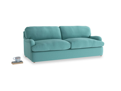 Large Jonesy Sofa Bed in Peacock brushed cotton