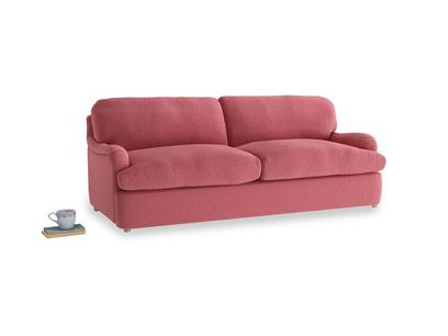 Large Jonesy Sofa Bed in Raspberry brushed cotton