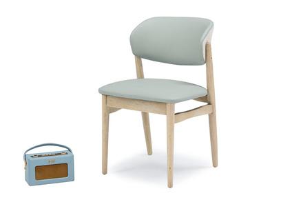 Popcorn Duck Egg leather kitchen chair