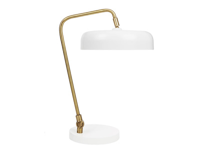 Biblio Table Lamp In White