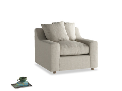 Comfy deep luxury British made Cloud armchair