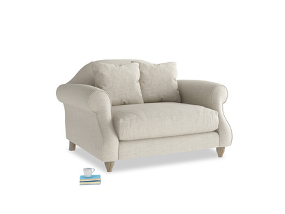British made classic traditional Sloucher love seat