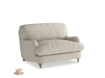 Beautiful Jonesy British made love seat and snuggler