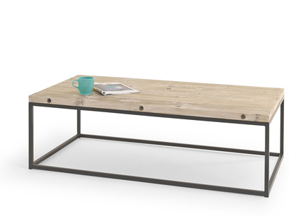 Poste hand made reclaimed industrial wooden coffee table