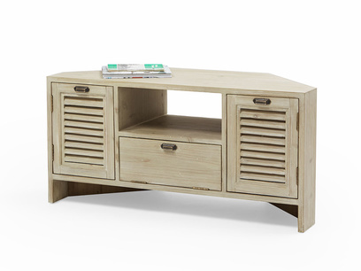 Corner Boy wooden TV stand