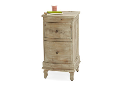 Solid wooden Bastille bedside table, french style with storage drawers