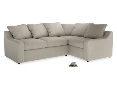 Large Right Hand Cloud Corner Sofa in Thatch house fabric