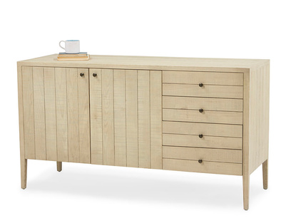 Grand Kanoodle bandsawn oak wood sideboard