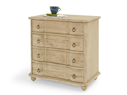 French vintage Otterley bedroom oak chest of drawers