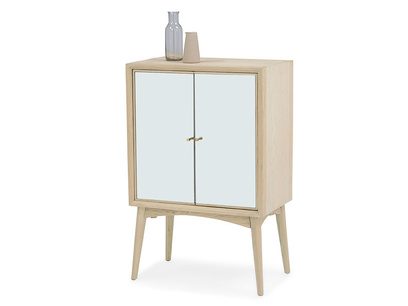 Trixie small modern mirrored drinks cabinet