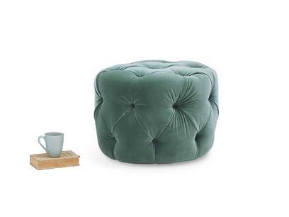 Gumdrop small button footstool