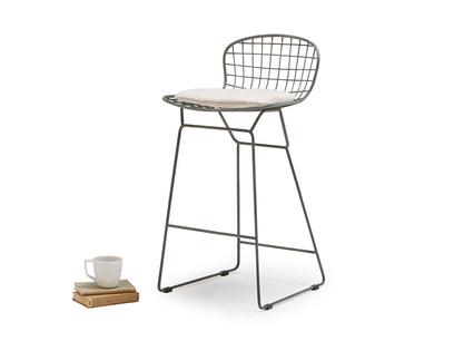 Tall Hamburger bar stool linen cushion