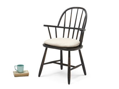 kc chu Chuckler Wooden Farmhouse Spindle Back Kitchen Chair Props L