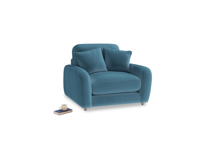 Easy Squeeze Armchair in Old blue Clever Deep Velvet