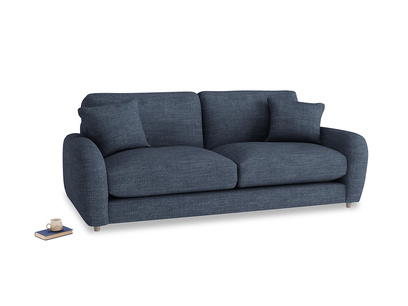 Medium Easy Squeeze Sofa in Selvedge Blue Laundered Linen