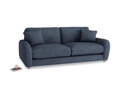 Medium Easy Squeeze Sofa in Selvedge Blue Laundered Linen