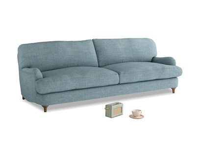 Large Jonesy Sofa in Soft Blue Clever Laundered Linen