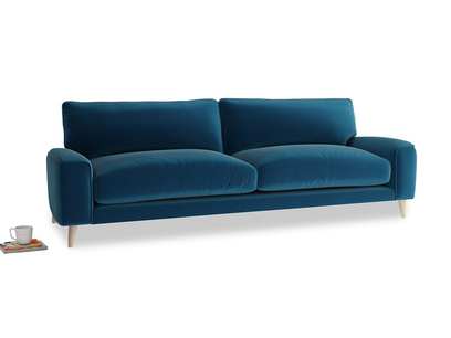 Large Strudel Sofa in Berlin Blue Clever Deep Velvet