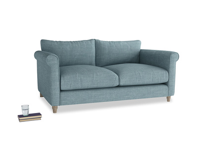 Medium Weekender Sofa in Soft Blue Clever Laundered Linen