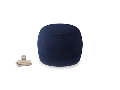 Round Little Cheese in Midnight plush velvet