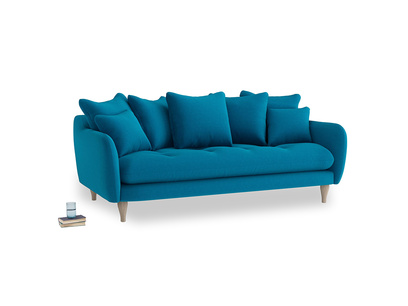 Large Skinny Minny Sofa in Bermuda Brushed Cotton