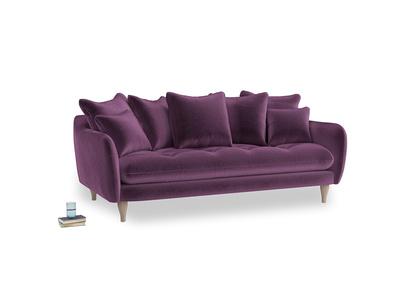Large Skinny Minny Sofa in Grape clever velvet