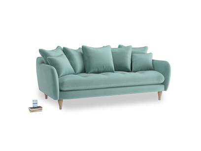 Large Skinny Minny Sofa in Greeny Blue Clever Deep Velvet