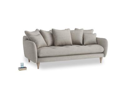 Large Skinny Minny Sofa in Grey Daybreak Laundered Linen
