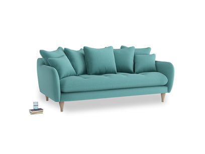 Large Skinny Minny Sofa in Peacock brushed cotton