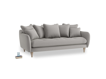 Large Skinny Minny Sofa in Wolf brushed cotton
