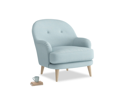 Armchair Sweetspot in Powder Blue Clever Softie