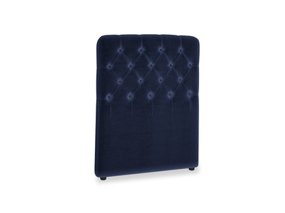 Single Billow Headboard in Goodnight blue Clever Deep Velvet