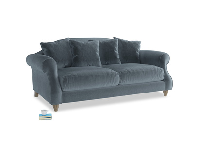 Medium Sloucher Sofa in Odyssey Clever Deep Velvet