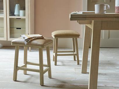 Little Bumpkin leather top small kitchen stool