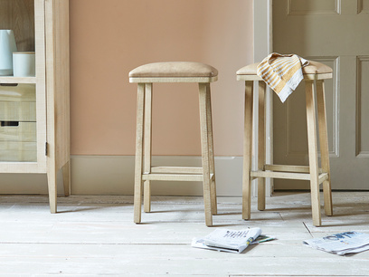 Tall Bumpkin leather kitchen stool
