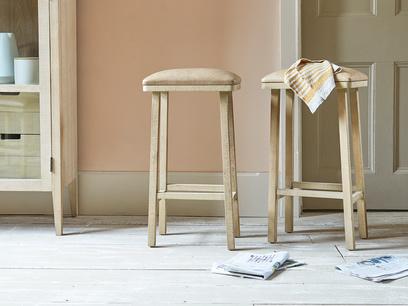 Tall Bumpkin leather kitchen stool