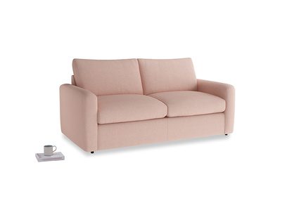 Chatnap Sofa Bed in Pale Pink Clever Woolly Fabric with both arms