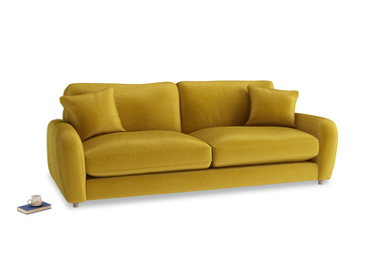 Large Easy Squeeze Sofa in Burnt yellow vintage velvet