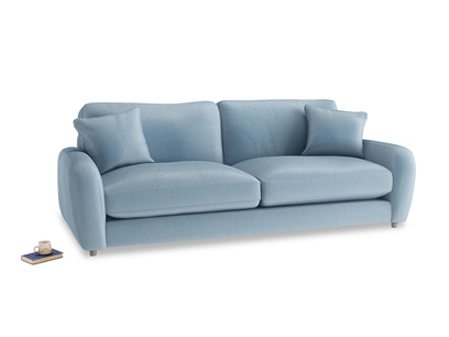 Large Easy Squeeze Sofa in Chalky blue vintage velvet