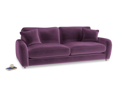 Large Easy Squeeze Sofa in Grape clever velvet