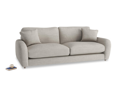 Large Easy Squeeze Sofa in Grey Daybreak Laundered Linen